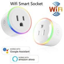 Умное зарядное устройство для мини розетки, Wi Fi, беспроводной пульт дистанционного управления, адаптер с таймером и выключением, совместим с Alexa Google Home