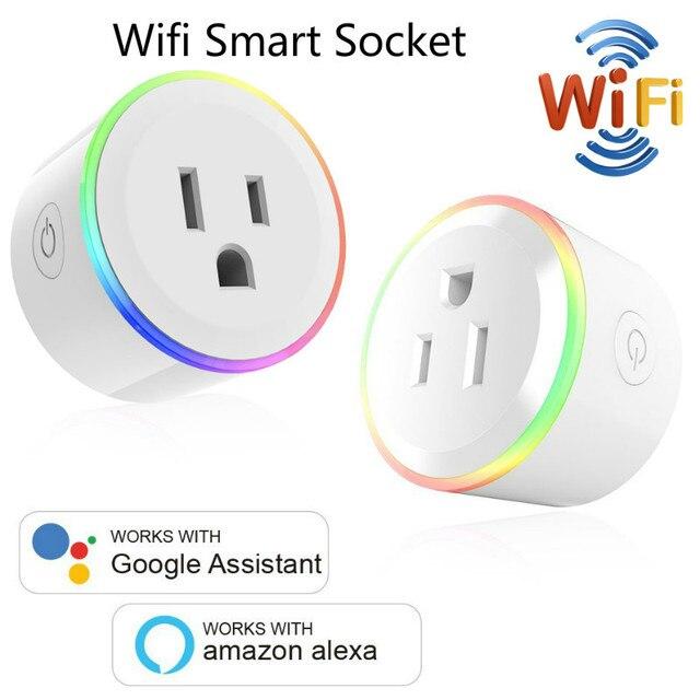 חכם מטען עבור מיני שקע תקע WiFi אלחוטי מרחוק שקע מתאם עם טיימר לסירוגין תואם עם Alexa Google בית