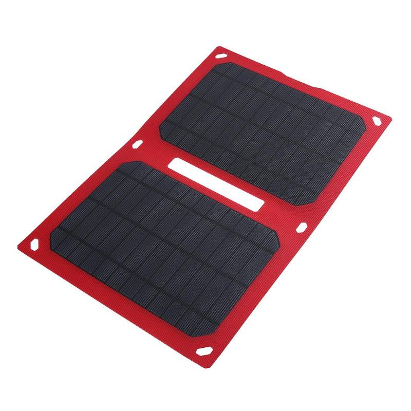 Portable 12W 5V Folding Foldable Solar Panel Charger Waterproof Mobile Power Bank for Phone Battery Dual USB Port Outdoor 2018 sunpower 21w solar panels portable folding foldable waterproof solar panel charger power bank for phone battery charger