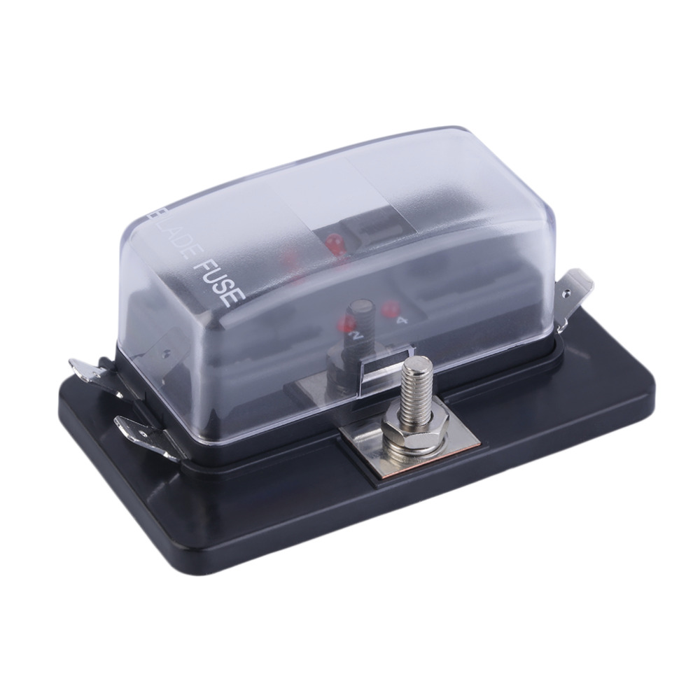 Original 1 x 4 Way Fuse Box 4/6/10 Way Circuit Car Automotive ATC ATO Fuse  Box For Middle Size Blade Car styling Free Shipping-in Fuses from  Automobiles ...
