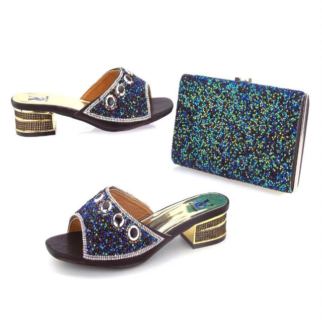 7a0ae1abb41 US $70.0  1906 A80 Newest Style African Matching Shoes And Bag Set  Beautiful Design European Ladies Slipper And Bags Sets Free Shipping-in  Women's ...