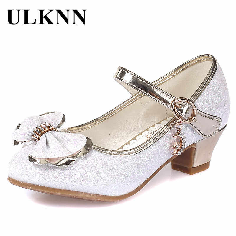 4b70fa407d Detail Feedback Questions about ULKNN Girls Dress Shoes Bow Knot ...