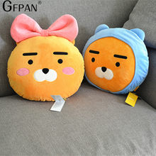 1PC 35cm Kawaii Kakao Friends Plush Pillow Stuffed Cartoon Dolls Ryan Cute Cocoa Stuffed Toys Wedding Gifts For Kids Children(China)