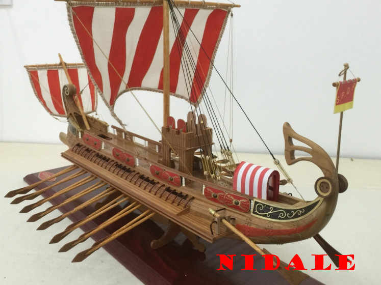 Classic wooden Sail boat model kit Scale 1/50 ancient Rome ship model