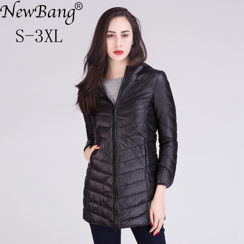 NewBang Women Ultra Light White Down Jacket Women's Down Jacket Long Female Winter Warm Coat  Woman Slim Windbreaker Coats