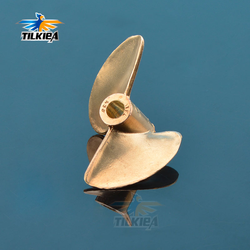 Rc Boat Propeller 2 Blades Prop Iridium Copper Propeller Diameter 35mm Propeller For 4mm  Boat Shaft