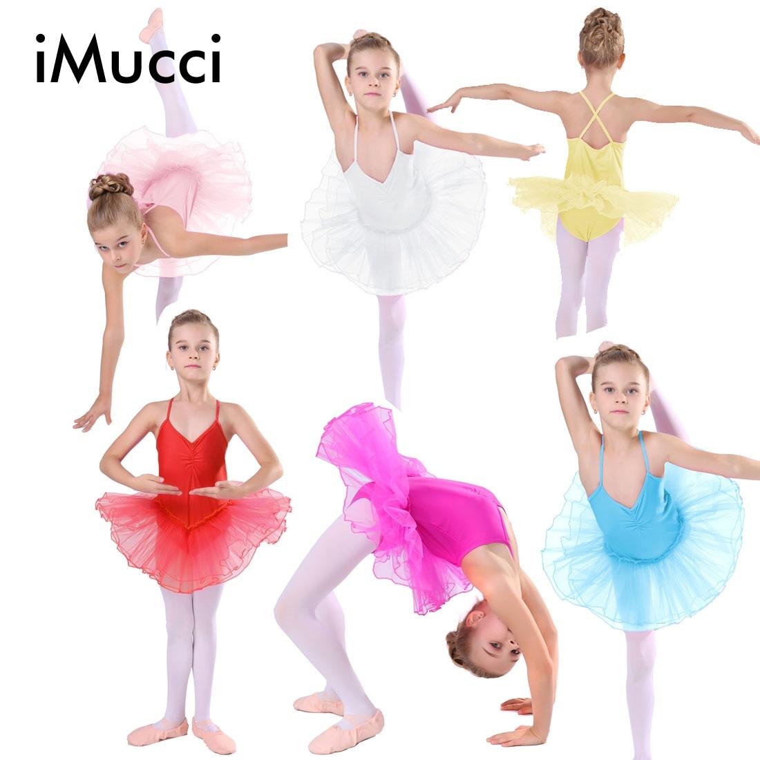 b6860d59d3 iMucci 7 Colors Rose Girl Ballet Dress Child Gauze Gymnastics Leotard Girls  Kids Gown Professional Tutus Dance Leotard Costume