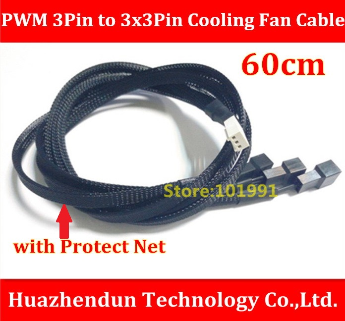High Quality  1PCS-Motherboard Internal 3Pin Female to 3 x 3Pin PWM Cooling Fan Splitter Power Sleeved Cable   60CM  Wire  22AWG high quality iss g200 1 pb niagara2250 60 pci sales all kinds of motherboard