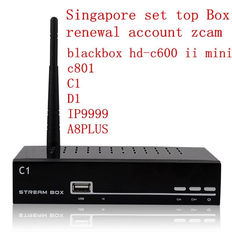 ФОТО Yearly  renewal c1plus d1 ip-9999 C801HD blackbox hd-c600 ii mini account zcam Cccam Singapore starhub hd Cable TV set top Box