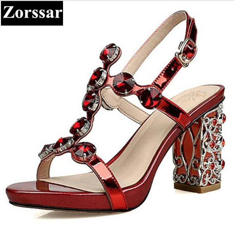 Summer shoes woman sandals rhinestone high heels wedding shoes for women 2017 new fashion sexy womens peep toe pumps heels 2017 summer sweet girl pink floral rhinestone buckle strap high heels women crystal sandals peep toe woman party wedding shoes