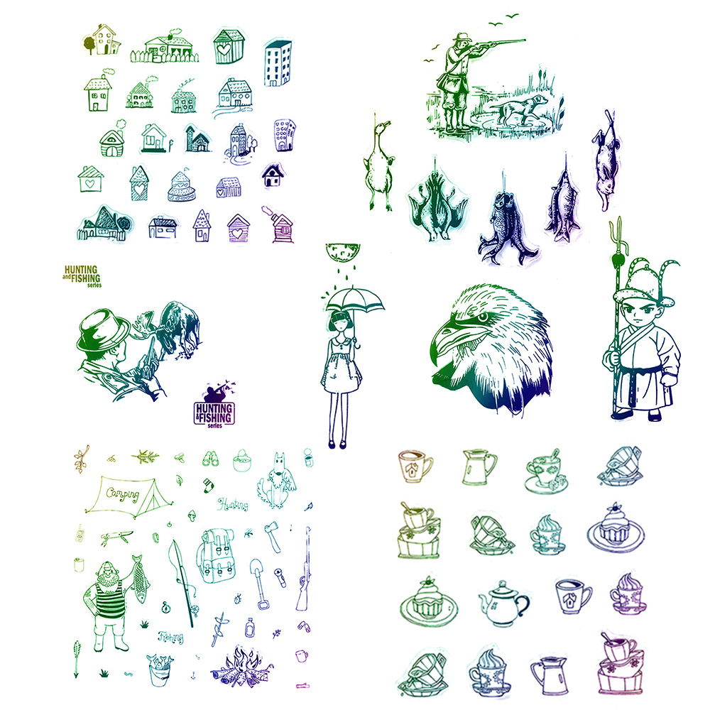 1pc Cute New Transparent Clear Rubber Stamp Silicone Scrapbooking Photo Album Decorative Stamp Sheet DIY Crafts