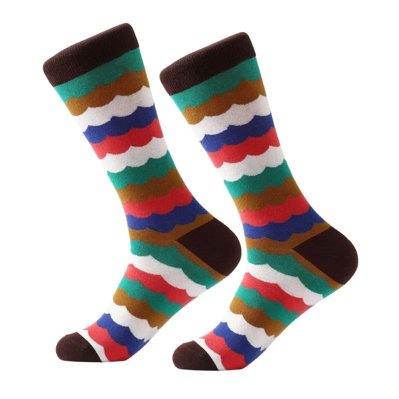 MYORED Fashion Colorful Socks Men Hit Color argyle Stripes big dot Jacquard filled optic combed Cotton Male Sock wedding gift in Men 39 s Socks from Underwear amp Sleepwears