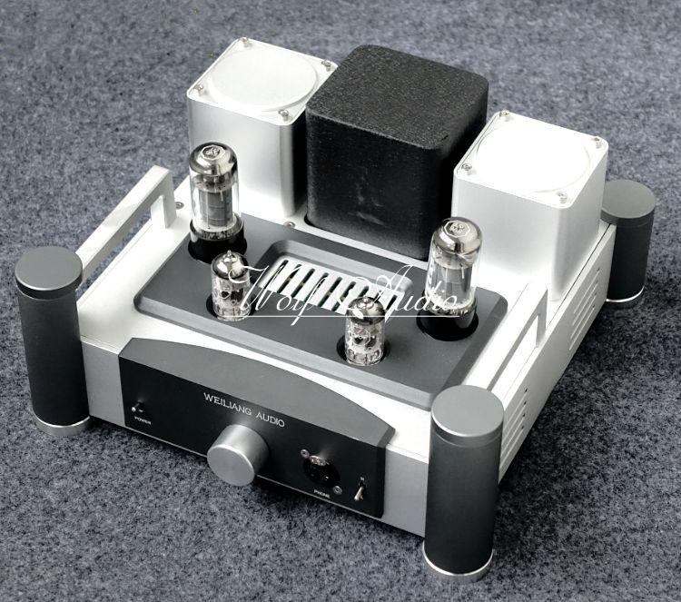 Class A Singl-ended HiFi Stereo Amp 12AX7+6P6P Vacuum Tube Headphone Amplifier 6sn7x2 12ax7 hi end class a pure tube headphone amplifier hifi stereo preamplifier silver black