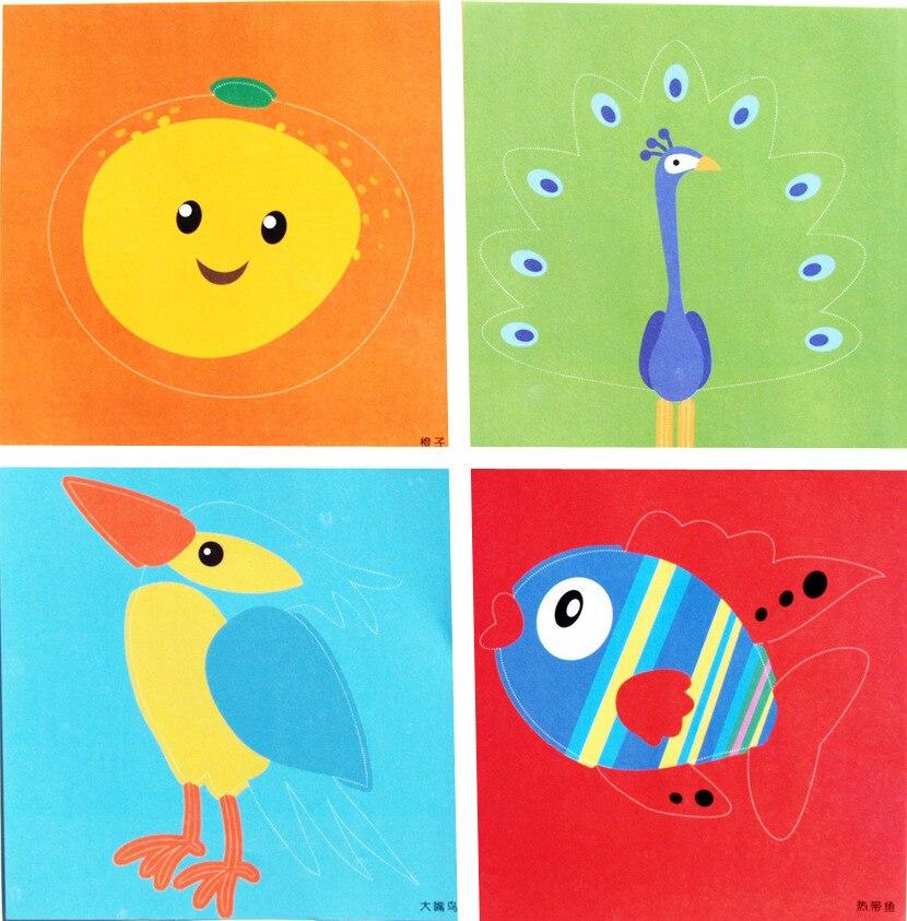 96 листов ручной работы бумажная вырезаемая книга крафт-бумага Детский Набор для творчества ручная работа книга Скрапбукинг Бумажные Игрушки для детей Обучающие игрушки WYQ