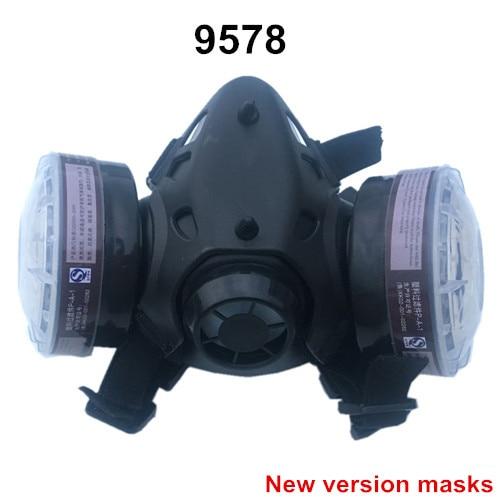 Промышленная безопасность, 9578, костюмы, респиратор, противогаз, химическая маска, спрей, химическая пыль, фильтр, дышащие маски, краска, пыль, половина, противогаз - Цвет: 9578