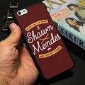 Shawn mendes moda negro caja del teléfono duro para el iphone 5s 5 se 5c 4 4S 6 6 s 7 más cubierta (Soft TPU/Plástico para la Opción)