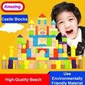 Amazing Creative Wooden Building Blocks rods Designer Construction Toys Learning Enlighten DIY Castle Children Kids educational