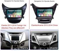 9 супер тонкий Сенсорный экран Android 8,1 радио gps навигации для hyundai Elantra 2011 2012 2013 стерео Мультимедийный плеер с Bluetooth