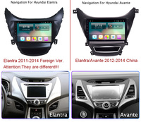 9 Super Slim Touch Screen Android 8.1 radio GPS Navigation for Hyundai Elantra 2011 2012 2013 Stereo Multimedia with Bluetooth