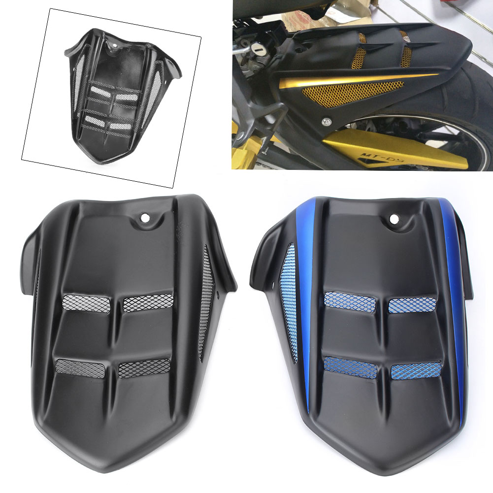 Motorcycle Rear Mudguard Fender Wheel Hugger Protector Fairing for YAMAHA MT-09 Tracer 2015-2016 / MT-09 FZ-09 2014-2017 for yamaha mt 09 fz09 2014 2016 fj09 mt09 tracer motorcycle accessories cnc rear hugger mudguard fender extension black