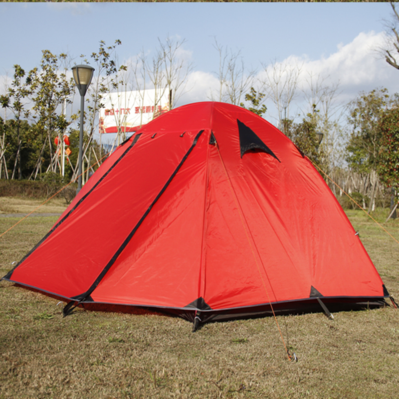 One Bedroom 3 Season Tent Ultralight Double Layers Tent Backpacking Tent 2 Person tarckman camping tent 2 person one bedroom double layers 3 season tent outdoor tent tm1218