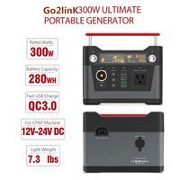 Go2linK 280Wh 300 Вт AC/DC 12 В 24 В портативная электростанция портативный Перезаряжаемый солнечный генератор для автомобиля Аварийный кемпинг на отк