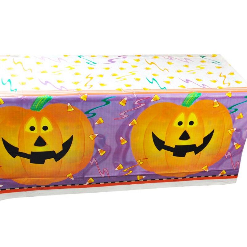 1 Pz Creativo Tovaglia Usa E Getta Di Halloween Stampato In Pvc Zucca Di Figura Del Cranio Impermeabile Da Tavolo Della Decorazione Del Partito Forniture Per La Casa