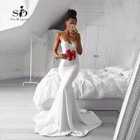 Sexy Mermaid Bridal Gown Lace Elegant Wedding Dress Spaghetti Straps Custom Made Bridal Gown Cheap High Quality