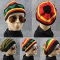 Зима Хип-Хоп Ямайский Боб cap Rasta Регги Шляпа многоцветный полосатые Шапочки Шляпы Для Мужчин и для Женщин 2016 мода новый стиль B1