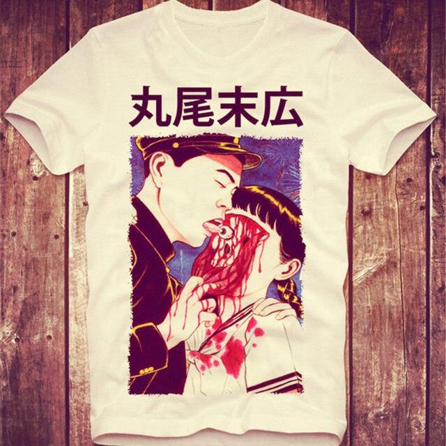 SUEHIRO MARUO T SHIRT EYEBALL LICK SUEHIRO MARUO CULT JAPAN Classic ANIME MANGA HORROR AUGE Halloween Horrible Tee Shirt New Top