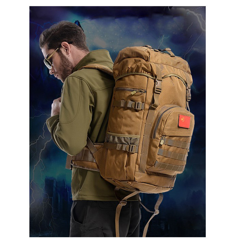 Outdoor Sports Bag Camping Travel Hiking Climbing Pack Multifunction Military Tactical Backpack with MOLLE Bag 2017 D040 military army tactical molle hiking hunting camping back pack rifle backpack bag climbing bags outdoor sports travel bag