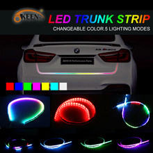 OKEEN Car Styling 5050 RGB Led Strip Trunk Light Waterproof LED Turn Signal Brake Tail Lights with 5 functions 7 Colors 48 Inch(China)