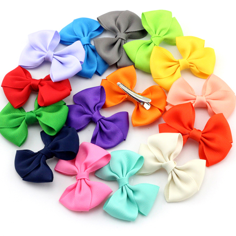 Pick 10 Small Baby Bows Hair Clip Girls Hairpin Hair Infant Ribbon Bow With Little Hair Clip Bebe Hair Accessories Bow Barrettes