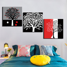 Posters and Prints Painting Abstract Tree Pictures Wall Art for Living Room Home Decor Canvas Art 3 Piece Set Framed(China)