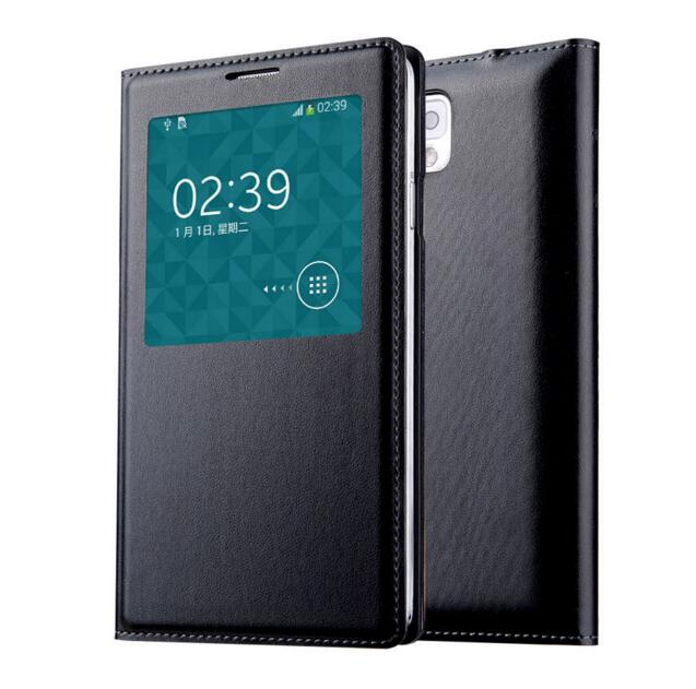 Note3 Original Chip Smart <font><b>Case</b></font> for <font><b>Samsung</b></font> Galaxy <font><b>Note</b></font> <font><b>3</b></font> <font><b>Flip</b></font> Leather Cover <font><b>Samsung</b></font> <font><b>Note</b></font> III N9000 N9005 Window View Atuo Sleep image