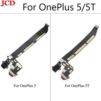 JCD New High Quality For OnePlus 5 One Plus 5 5T Type C USB Charging Port Dock Connector Flex Cable Replacement Assembly Parts