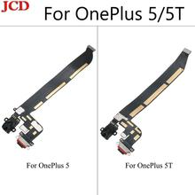 JCD חדש באיכות גבוהה עבור OnePlus 5 אחת בתוספת 5 5 T סוג C USB טעינת נמל Dock Connector Flex כבל החלפת עצרת חלקי