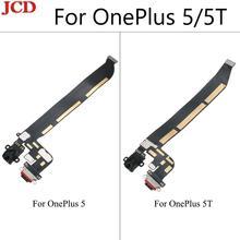 JCD ใหม่คุณภาพสูงสำหรับ OnePlus 5 One Plus 5 5 T ประเภท C USB ชาร์จพอร์ต Dock Connector Flex สายเปลี่ยนชิ้นส่วน