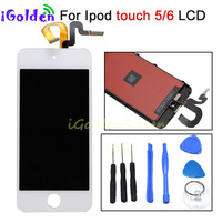 High Quality New Black White LCD Touch Digitizer Screen Assembly for iPod Touch 5 6 Gen Generation free shipping