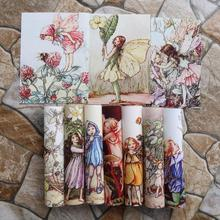 Flower Elves Hand dyed fabric 10PCSX16CM Assorted Cotton Linen Printed Quilt Fabric For DIY Sewing Patchwork