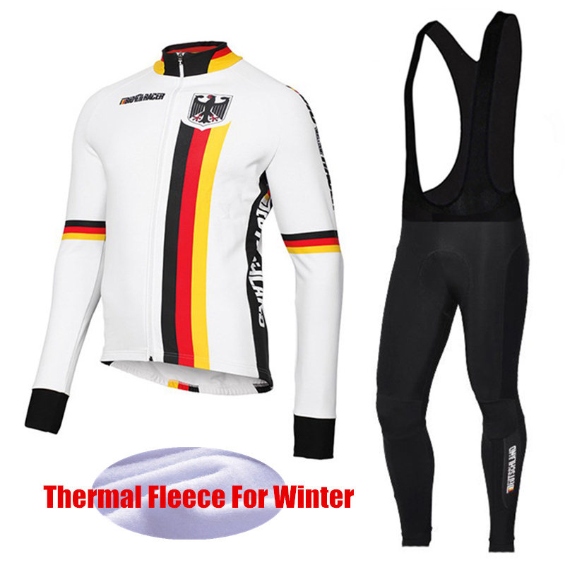National Team Bicycle Wear Men's Cycling Clothing Winter Sets Maillot Ciclismo invierno Thermal Fleece Cycling Jersey DT-003 fualrny 2018 thermal fleece bicycle wear bike clothing suit invierno maillot ciclismo winter long sleeve cycling jersey set 006