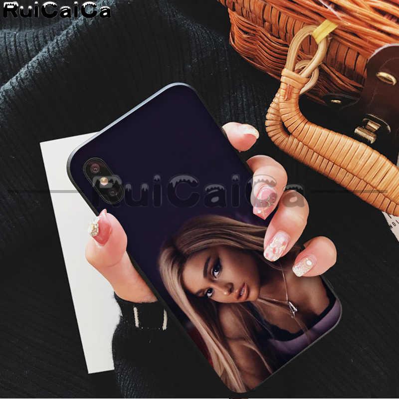 RuiCaiCa Ariana Grande AG Rainbow สารให้ความหวาน Luxury High - end Protector กรณีสำหรับ iphone ของ Apple iphone 8 7 6 6 S plus X XS MAX 5 5 S SE XR
