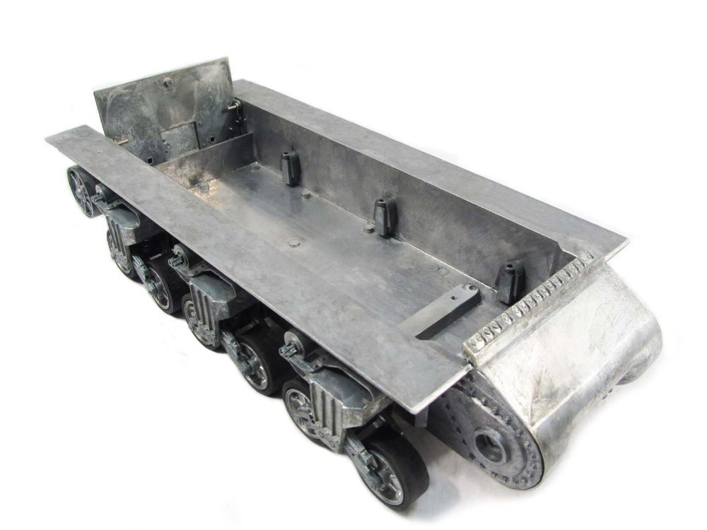 Mato 1 16 sherman metal robot chassis with suspension and for Suspension metal
