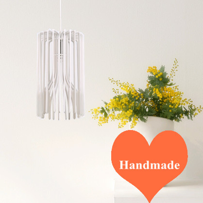 Modern creative white Ply-Wood chipss Chandelier handmade E27 LED lamp indoor lights for cafe&stairs&living room&pavilion BT244 2016 creative novelty blue shade ply wood chips chandelier e27 led floral lamp indoor lamp for stairs