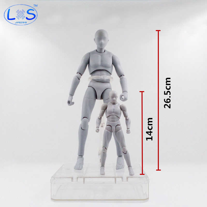 26.5cm Archetype He She Ferrite Figma Movable BODY KUN BODY CHAN PVC Feminino Action Figure Anime Collectible Model Toys