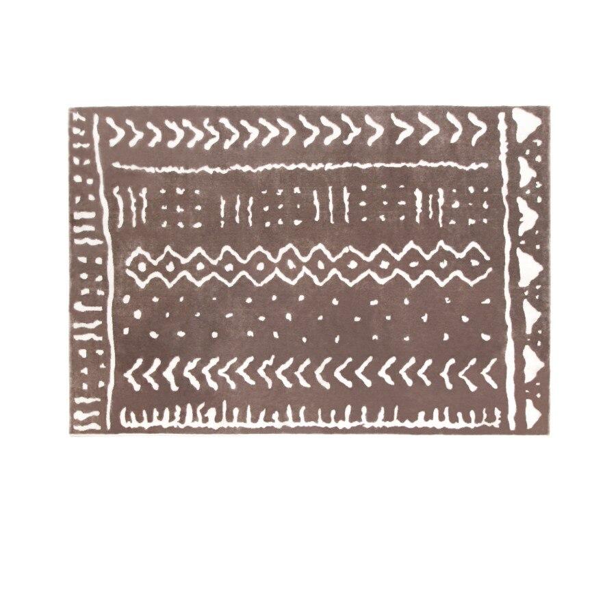 60x90cm Tapis Nordic Coton Tisse Glands De Tapis Chambre Tapis