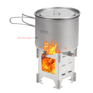 Image 5 - Lightweight Titanium Folding Wood Stove Outdoor Camping Stove Picnic Cooking Backpacking Furnace Outdoor Camping Stove