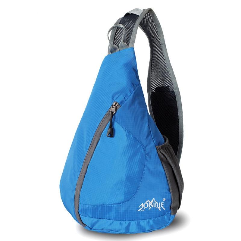 AONIJIE Women Men Sport Folding Cross Body Shoulder Bag Waterproof Nylon Triangle Messenger Bag for Running