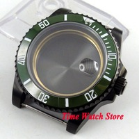 5 modelle Parnis 40mm PVD beschichtet uhr fall fit ETA 2836 bewegung keramik lünette sapphire glas für SUB männer der uhr C35-in Zifferblätter aus Uhren bei