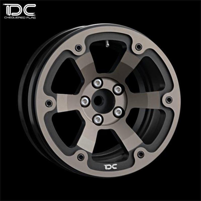 2PCS DC 1:10 RC 2.2INCH DC-DICHROMATIC VERSION BEADLOCK CRAWLER ALUMINUM WHEEL&RIMS DC-90445 mxfans rc 1 10 2 2 crawler car inflatable tires black alloy beadlock pack of 4